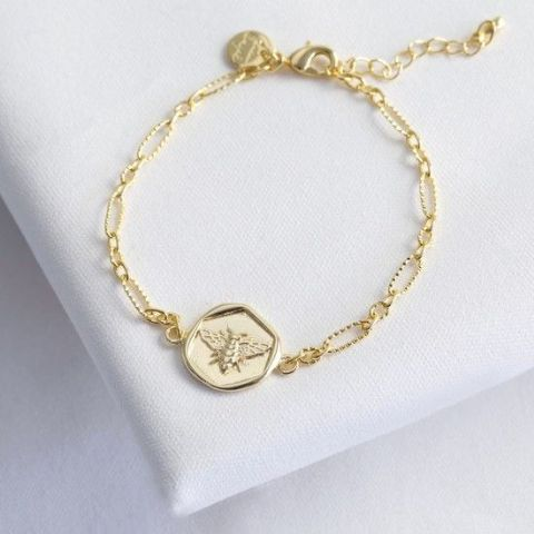 WAX SEAL GOLD BEE BRACELET